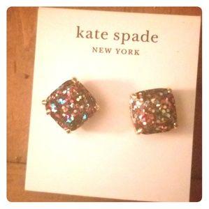 Kate Spade Glitter Stud Earrings NWT